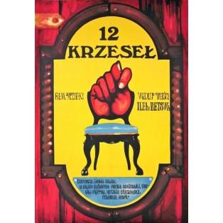 12 krzeseł Jakub Erol Polskie Plakaty Filmowe