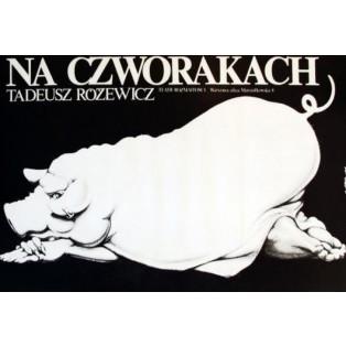 Na czworakach Jakub Erol Polskie Plakaty Teatralne