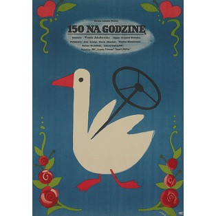 150 na godzinę Jerzy Flisak Polskie Plakaty Filmowe