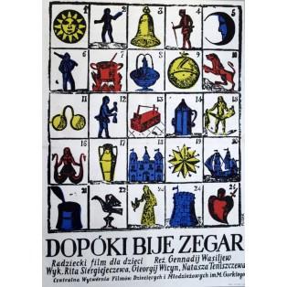 Dopóki bije zegar Jerzy Flisak Polskie Plakaty Filmowe