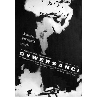 Dywersanci Jerzy Flisak Polskie Plakaty Filmowe