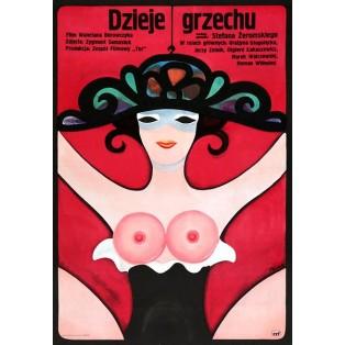 Dzieje grzechu Jerzy Flisak Polskie Plakaty Filmowe