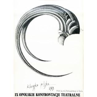 Opolskie Konfrontacje Teatralne - 9. Eugeniusz Get Stankiewicz Polskie Plakaty Teatralne