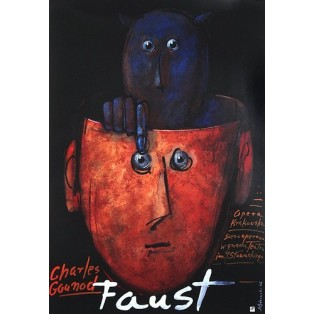 Faust – Charles Gounod Mieczysław Górowski Polskie Plakaty Operowe