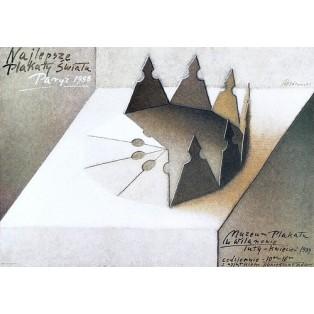 Najlepsze plakaty świata Paryż 1988 Mieczysław Górowski Polskie Plataty Wystawowe