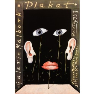 Plakat Galeria Malbork Mieczysław Górowski Polskie Plataty Wystawowe