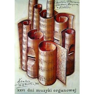 Dni muzyki organowej XXVI  Mieczysław Górowski Polskie Plakaty Muzyczne
