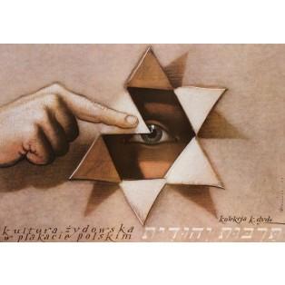 Kultura żydowska w plakacie polskim Mieczysław Górowski Polskie Plataty Wystawowe