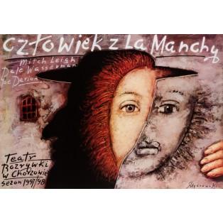 Człowiek z La Manchy Mieczysław Górowski Polskie Plakaty Teatralne