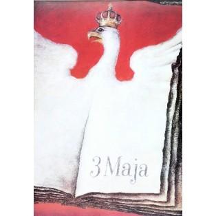 3. Maja, Orzeł Wiesław Grzegorczyk Polskie Plakaty