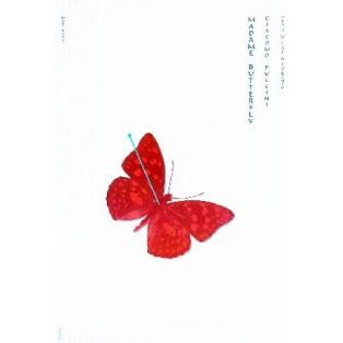 Madama Butterfly Ryszard Kaja Polskie Plakaty Operowe