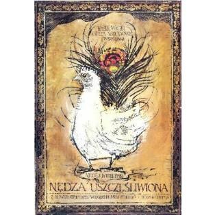 Nędza uszczęśliwiona Ryszard Kaja Polskie Plakaty Operowe