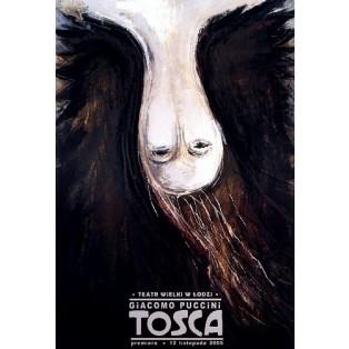 Tosca Ryszard Kaja Polskie Plakaty Operowe