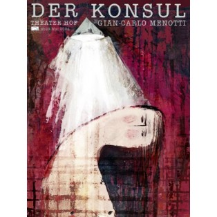 Konsul Ryszard Kaja Polskie Plakaty Teatralne