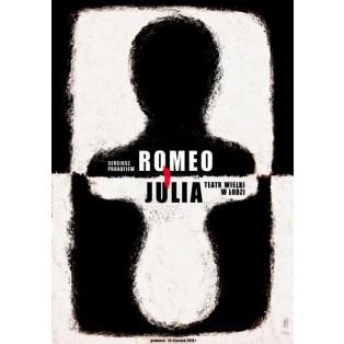 Romeo i Julia, Łódź Ryszard Kaja Polskie Plakaty Operowe