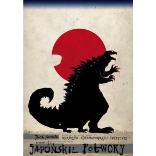 Japońskie potwory Ryszard Kaja Polskie Plakaty