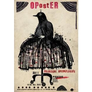 OPostER polski plakat operowy Ryszard Kaja Polskie Plataty Wystawowe