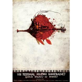 Festiwal Muzyki Kameralnej Rybna VIII. Ryszard Kaja Polskie Plakaty Muzyczne