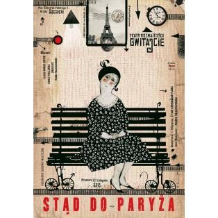 Gwitajcie Teatr Rozmaitości Ryszard Kaja Polskie Plakaty