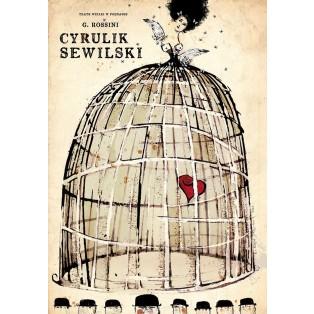 Cyrulik Sewilski Ryszard Kaja Polskie Plakaty Operowe