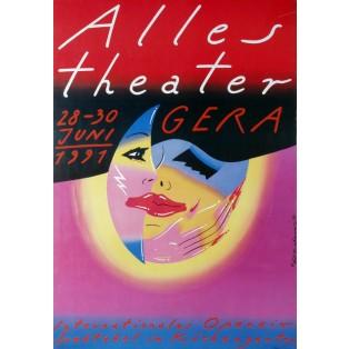 Alles Theater Gera 1991 Roman Kalarus Polskie Plakaty Teatralne