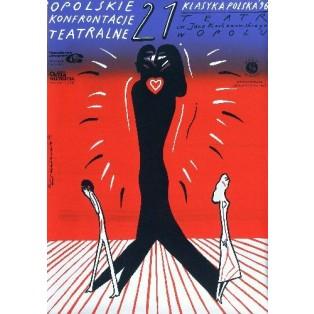 Opolskie Konfrontacje Teatralne 21. Roman Kalarus Polskie Plakaty Teatralne