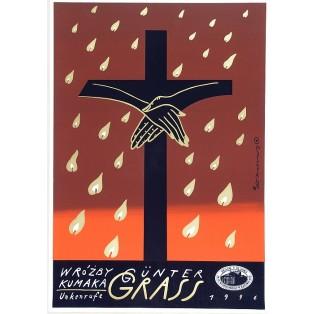Wróżby Kumaka Günter Grass Roman Kalarus Polskie Plakaty Teatralne