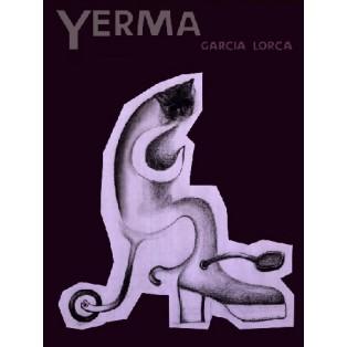 Yerma Federico García Lorca Leonard Konopelski Polskie Plakaty Teatralne