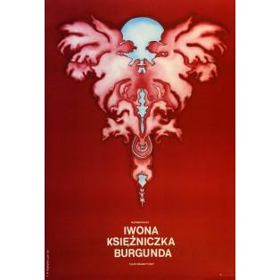 Iwona, księżniczka Burgunda Witold Gombrowicz Leonard Konopelski Polskie Plakaty Teatralne