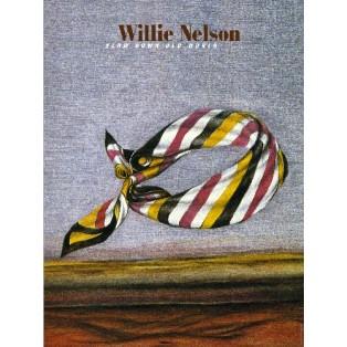 Willie Nelson Leonard Konopelski Polskie Plakaty Muzyczne