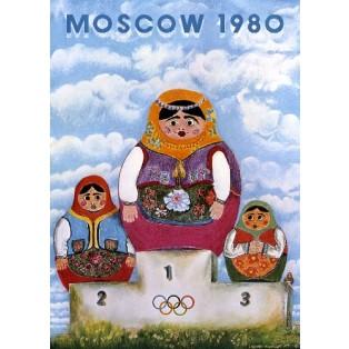 Moscow 1980 Leonard Konopelski Polskie Plakaty