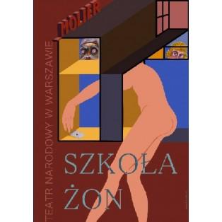 Szkoła żon Leonard Konopelski Polskie Plakaty Teatralne