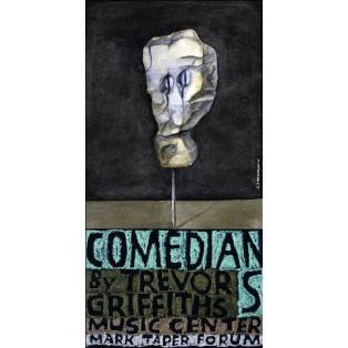 Comedians and Trevor Griffiths Music Cente Leonard Konopelski Polskie Plakaty Muzyczne