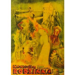 Komedia rodzinna Leonard Konopelski Polskie Plakaty Teatralne