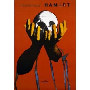 Hamlet Leonard Konopelski Polskie Plakaty Teatralne