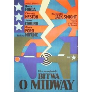 Bitwa o Midway Jack Smight Andrzej Krajewski Polskie Plakaty Filmowe