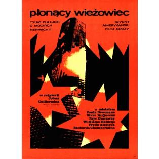 Płonący wieżowiec John Guillermin Andrzej Krajewski Polskie Plakaty Filmowe