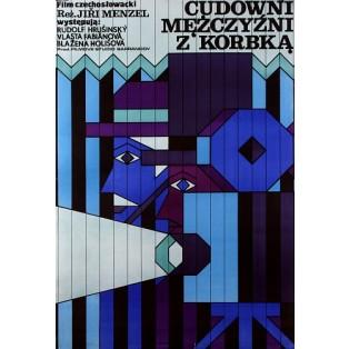 Cudowni mężczyzni z korbką Jiri Menzel Andrzej Krajewski Polskie Plakaty Filmowe