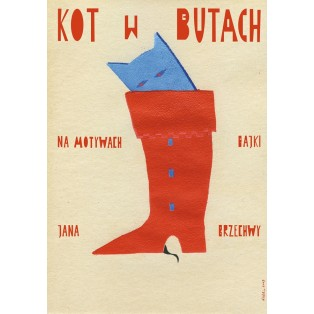 Kot w butach Sebastian Kubica Polskie Plakaty Teatralne