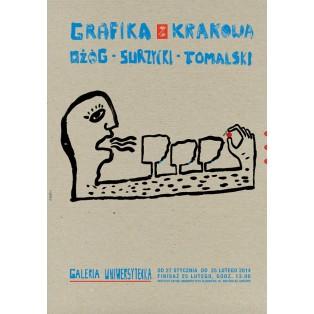Grafika z Krakowa – Ożóg, Surzycki, Tomalski Sebastian Kubica Polskie Plataty Wystawowe