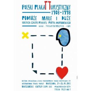 Polski plakat turystyczny Sebastian Kubica Polskie Plataty Wystawowe
