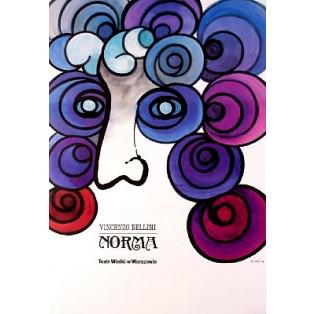 Norma Jan Lenica Polskie Plakaty Operowe