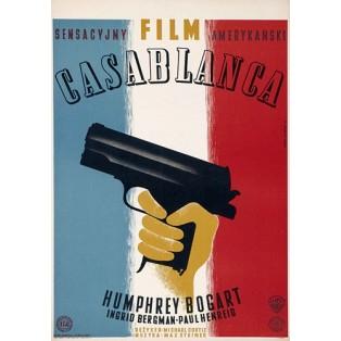 Casablanca Michael Curtiz Eryk Lipiński Polskie Plakaty Filmowe