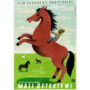 Mali detektywi Ralph Smart Eryk Lipiński Polskie Plakaty Filmowe