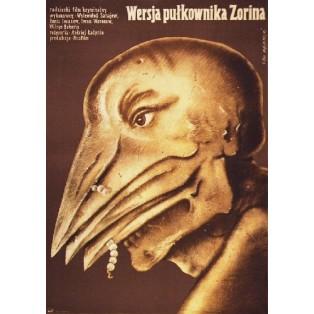 Wersja pułkownika Zorina Andrei Ladynin Lech Majewski Polskie Plakaty Filmowe