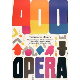 Opera 400 lat Jan Młodożeniec Polskie Plakaty Operowe