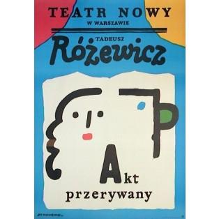 Akt przerywany Jan Młodożeniec Polskie Plakaty Teatralne