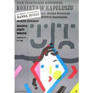 Kobieta w Kapeluszu Stanisław Różewicz Jan Młodożeniec Polskie Plakaty Filmowe