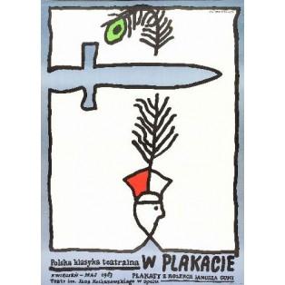 Polska klasyka teatralna w plakacie Jan Młodożeniec Polskie Plakaty Teatralne