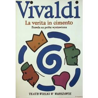 Prawda na próbę wystawiona Vivaldi La verita in cimento Jan Młodożeniec Polskie Plakaty Operowe